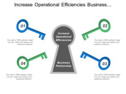 Increase Operational Efficiencies Business Partnership Customer Service Self Service