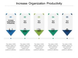 Increase Organization Productivity Ppt Powerpoint Presentation Summary Slide Cpb