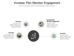 Increase Plan Member Engagement Ppt Powerpoint Presentation Outline Icon Cpb