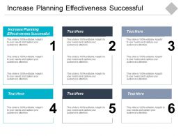 Increase Planning Effectiveness Successful Ppt Powerpoint Presentation Gallery Design Inspiration Cpb
