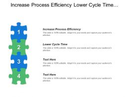Increase Process Efficiency Lower Cycle Time Engagement Structure