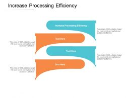 Increase Processing Efficiency Ppt Powerpoint Presentation Summary Design Templates Cpb