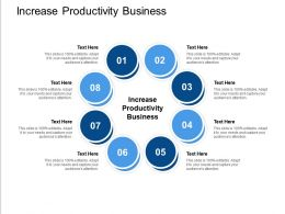 Increase Productivity Business Ppt Powerpoint Presentation Infographic Template Cpb