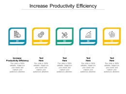 Increase Productivity Efficiency Ppt Powerpoint Presentation Ideas Mockup Cpb