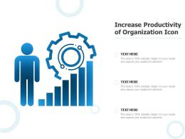 Increase Productivity Of Organization Icon