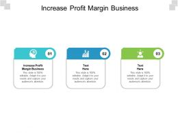 Increase Profit Margin Business Ppt Powerpoint Presentation Inspiration Examples Cpb