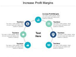 Increase Profit Margins Ppt Powerpoint Presentation Show Portfolio Cpb