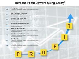 Increase Profit Upward Going Arrow