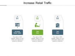 Increase Retail Traffic Ppt Powerpoint Presentation Slides Graphics Tutorials Cpb