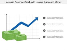 Increase Revenue Graph With Upward Arrow And Money