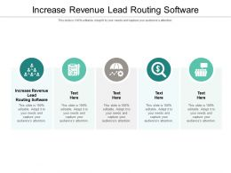 Increase Revenue Lead Routing Software Ppt Powerpoint Presentation Inspiration Template Cpb