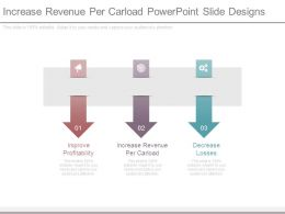 Increase Revenue Per Carload Powerpoint Slide Designs