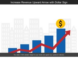 Increase Revenue Upward Arrow With Dollar Sign