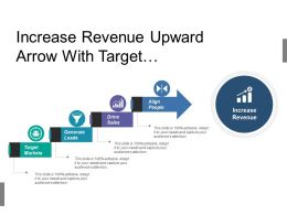 Increase Revenue Upward Arrow With Target Markets Lead Generation And Sales Drive