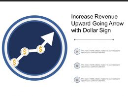 Increase Revenue Upward Going Arrow With Dollar Sign