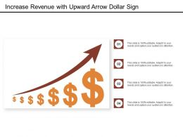 Increase Revenue With Upward Arrow Dollar Sign