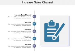 Increase Sales Channel Ppt Powerpoint Presentation Show Elements Cpb