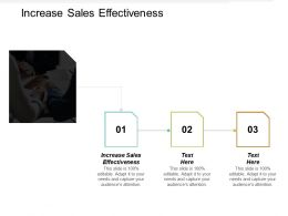 Increase Sales Effectiveness Ppt Powerpoint Presentation Portfolio Guidelines Cpb