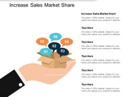 Increase Sales Market Share Ppt Powerpoint Presentation File Demonstration Cpb