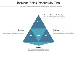 Increase Sales Productivity Tips Ppt Powerpoint Presentation Gallery Background Images Cpb