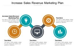 Increase Sales Revenue Marketing Plan Ppt Powerpoint Presentation Icon Show Cpb