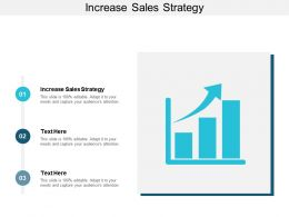 Increase Sales Strategy Ppt Powerpoint Presentation Gallery Model Cpb
