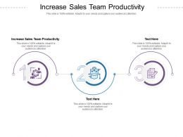 Increase Sales Team Productivity Ppt Powerpoint Presentation Inspiration Vector Cpb