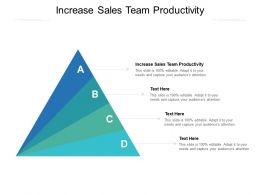 Increase Sales Team Productivity Ppt Powerpoint Presentation Layouts Model Cpb