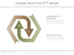 Increase Stock Price Ppt Sample