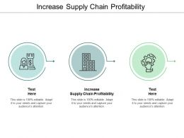 Increase Supply Chain Profitability Ppt Powerpoint Presentation Model Graphics Template Cpb