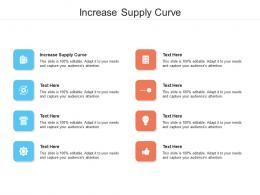 Increase Supply Curve Ppt Powerpoint Presentation Professional Demonstration Cpb