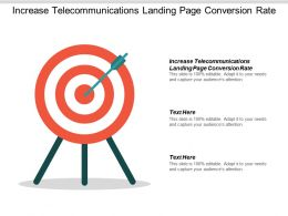 Increase Telecommunications Landing Page Conversion Rate Ppt Powerpoint Presentation Infographic Cpb