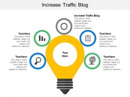 Increase Traffic Blog Ppt Powerpoint Presentation File Tips Cpb