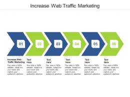 Increase Web Traffic Marketing Ppt Powerpoint Presentation Gallery Diagrams Cpb
