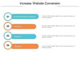 Increase Website Conversion Ppt Powerpoint Presentation Icon Cpb