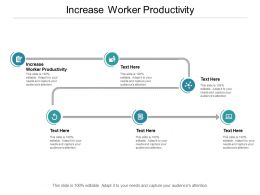 Increase Worker Productivity Ppt Powerpoint Presentation Outline Cpb