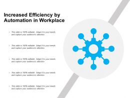 Increased Efficiency By Automation In Workplace