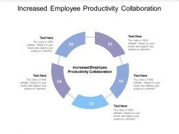 Increased Employee Productivity Collaboration Ppt Powerpoint Presentation File Layouts Cpb
