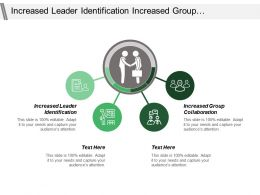 Increased Leader Identification Increased Group Collaboration Leader Vision