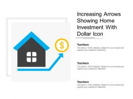 Increasing Arrows Showing Home Investment With Dollar Icon