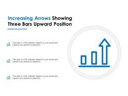 Increasing Arrows Showing Three Bars Upward Position