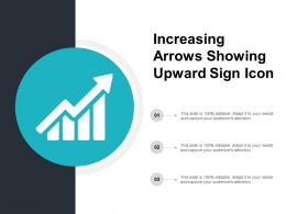 Increasing Arrows Showing Upward Sign Icon