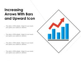 Increasing Arrows With Bars And Upward Icon