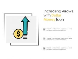 Increasing Arrows With Dollar Money Icon