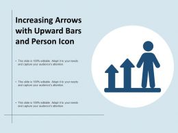 Increasing Arrows With Upward Bars And Person Icon
