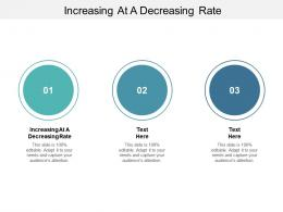Increasing At A Decreasing Rate Ppt Powerpoint Presentation Professional Model Cpb