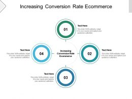 Increasing Conversion Rate Ecommerce Ppt Powerpoint Presentation Ideas Introduction Cpb