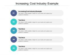 Increasing Cost Industry Example Ppt Powerpoint Presentation Infographics Example Topics Cpb