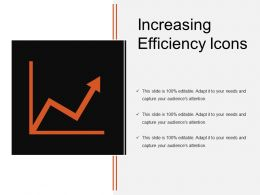 Increasing Efficiency Icons