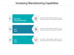 Increasing Manufacturing Capabilities Ppt Powerpoint Presentation Infographics Clipart Cpb